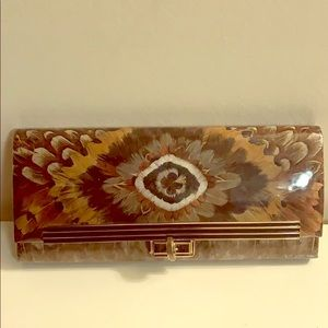 Handbags - 1960's-1970's Pheasant Feather Wallet